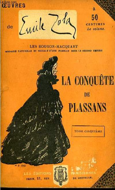 La conquête de Plassans. TOME V.