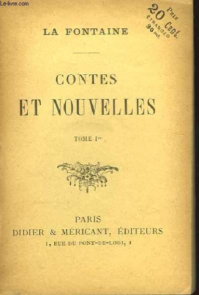 Contes et Nouvelles. TOME Ier