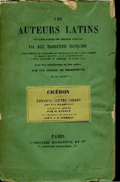 Les Auteurs Latins. Discours contre Verrès.