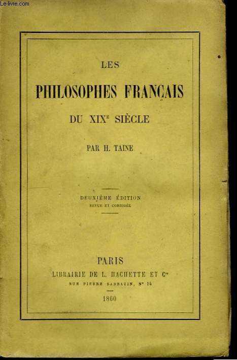Les philosophes français du XIXème siècle.