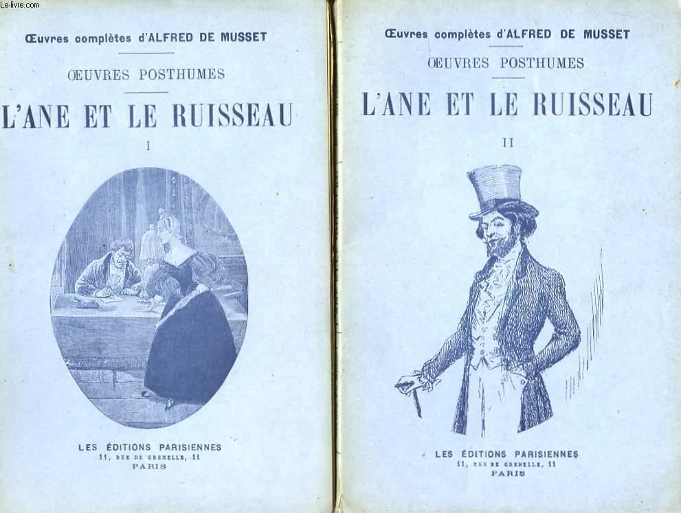 Oeuvres Posthumes. L'Âne et le Ruisseau.