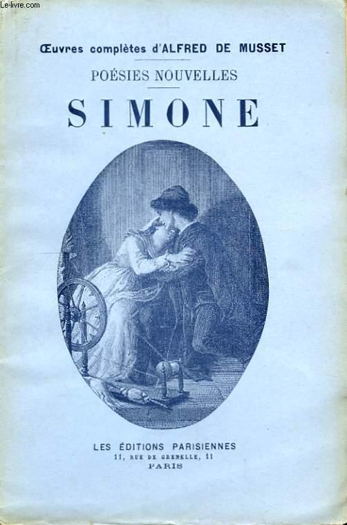 Poésies Nouvelles. Simone.