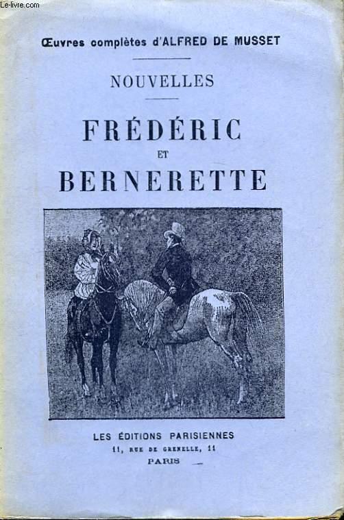 Nouvelles. Frédéric et Bernerette.