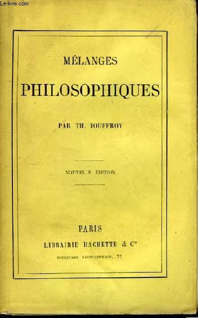 Mélanges Philosophiques.