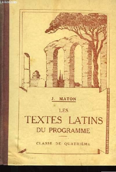 Les Textes Latins du Programme. Classe de 4ème.