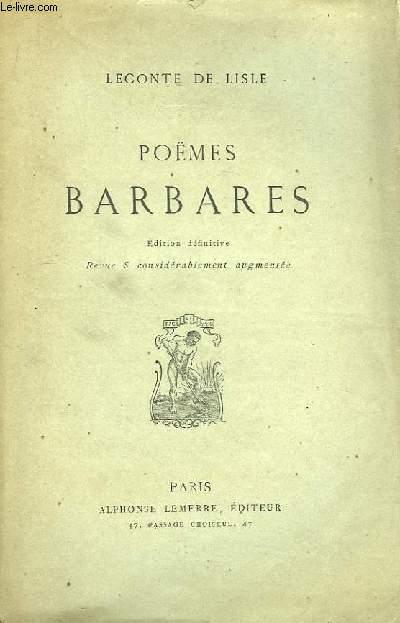 Poèmes Barbares.