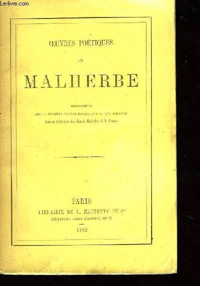 Oeuvres poétiques de Malherbe