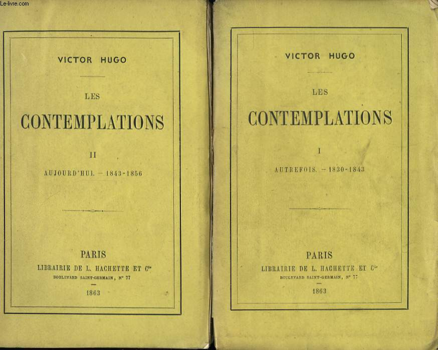 Les Contemplations. En 2 TOMES