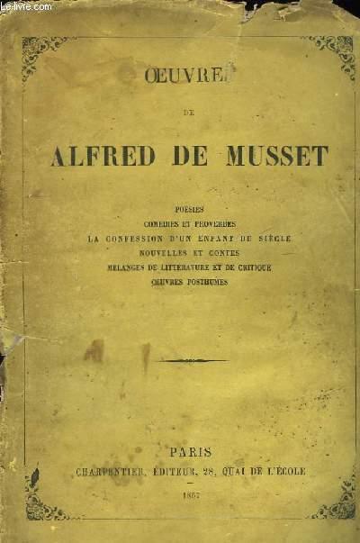 Oeuvres de Alfred de Musset.