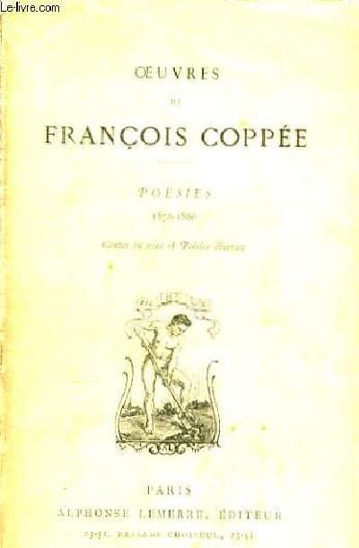 Oeuvres de Fr. Coppée. Poésies 1878 - 1886