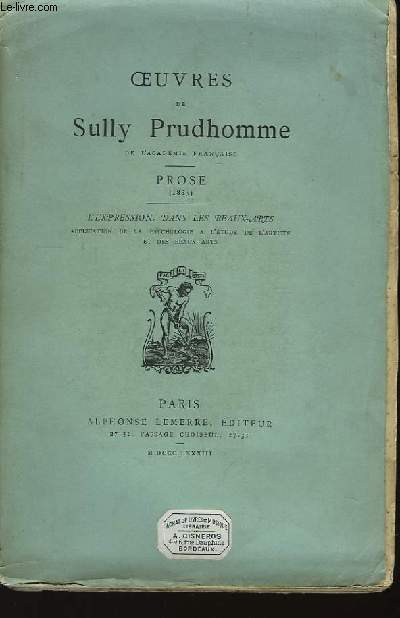 Oeuvres de S. Prudhomme. Prose (1883)