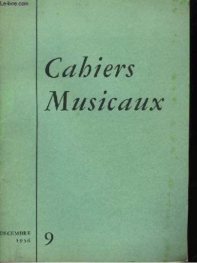Cahiers Musicaux n°9, 2ème année.