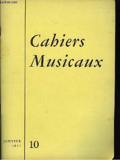 Cahiers Musicaux n°10, 2ème année.