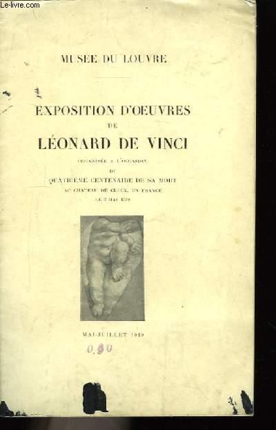 Exposition d'oeuvres de Léonard de Vinci.