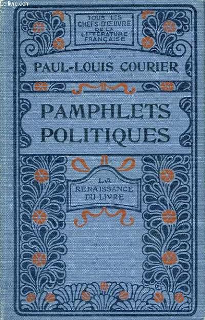 Pamphlets politiques et Lettres d'Italie.