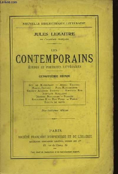Les Contemporains. 5ème série.