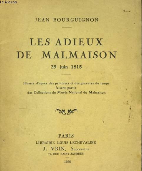 Les adieux de Malmaison.