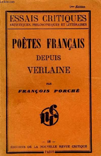 Poètes français depuis Verlaine.
