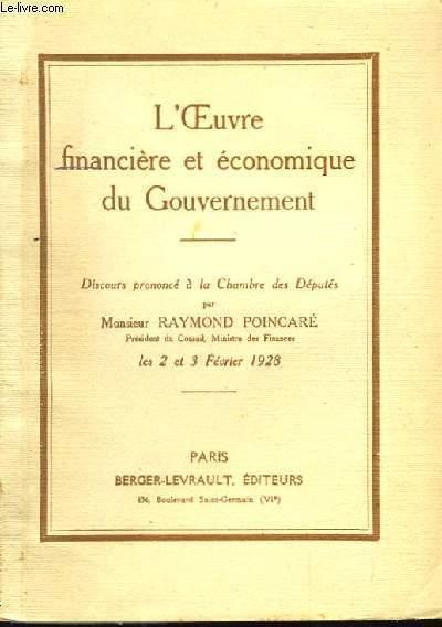 L'Oeuvre financière et économique du Gouvernement.