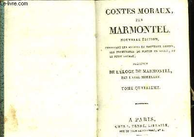Contes Moraux. TOME IV.