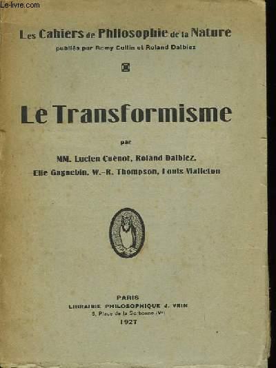Le Transformisme.