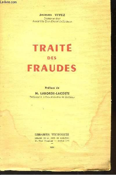 Traité des Fraudes.