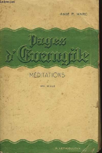 Pages d'Evangile. Méditations.