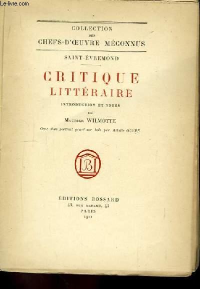 Critique Littéraire.