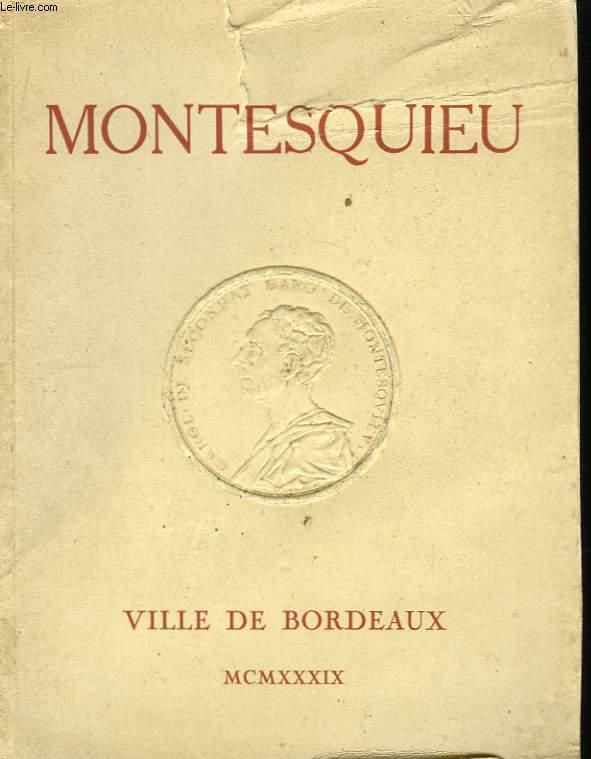 Exposition des Manuscrits de Montesquieu.