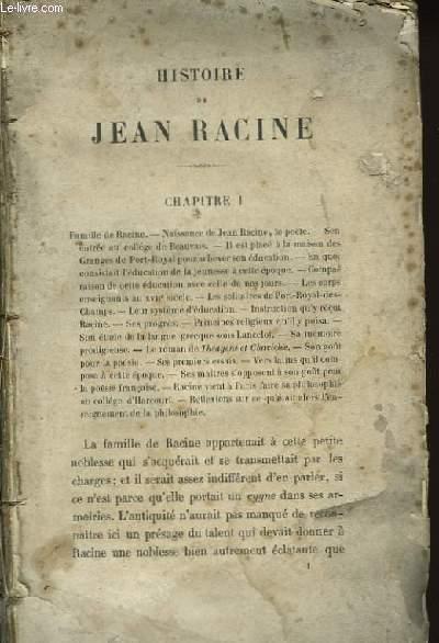 Histoire de Jean Racine.