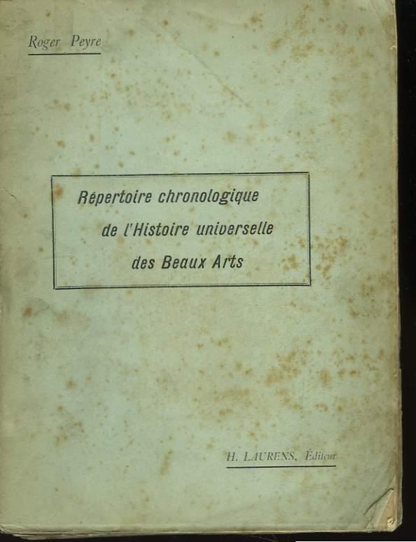 Répertoire chronologique de l'Histoire universelle des Beaux Arts