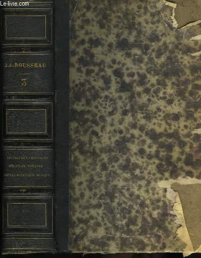 Oeuvres Complètes de J.J. Rousseau. TOME III