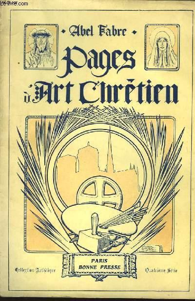 Pages d'Art Chrétien. 4ème série.
