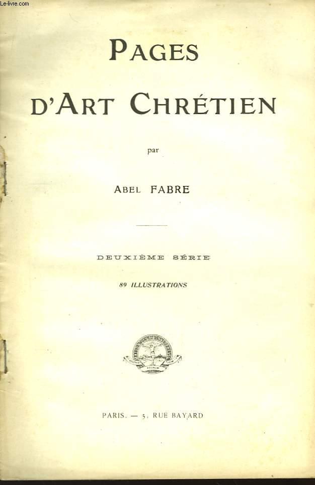 Pages d'Art Chrétien. 2ème série.