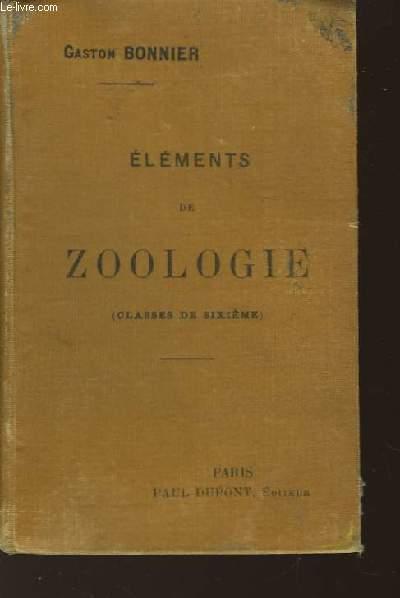 Eléments de Zoologie.