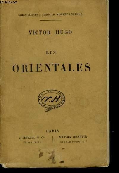 Les Orientales.