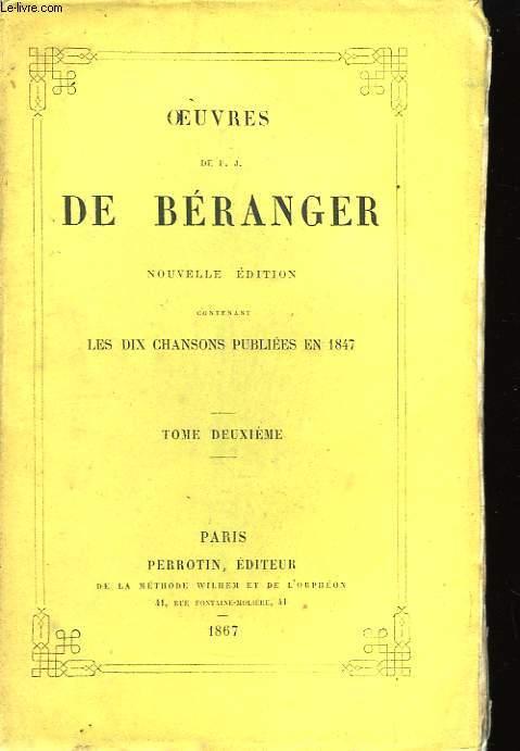 Oeuvres de Béranger. TOME II