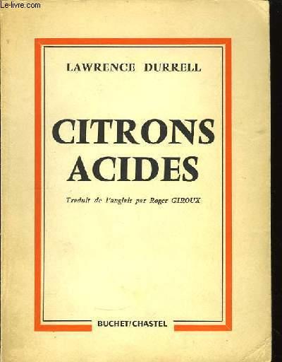 Citrons acides (Bitter Lemons)