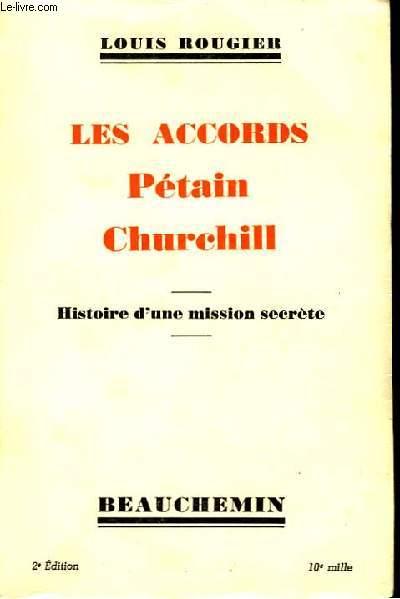 Les accords Pétain Churchill