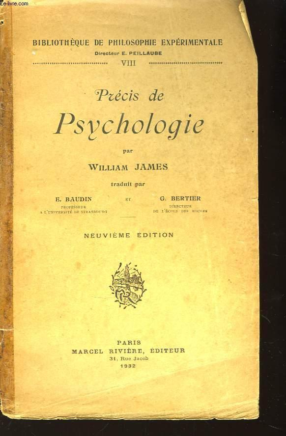 Précis de Psychologie