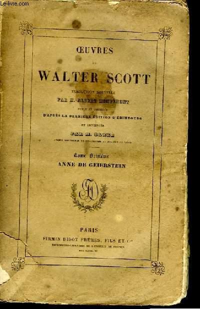 Oeuvres de Walter Scott. TOME XVI : Anne de Geierstein.