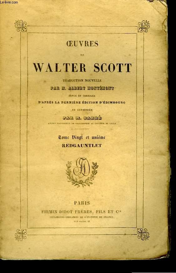 Oeuvres de Walter Scott. TOME XXI : Redgauntlet