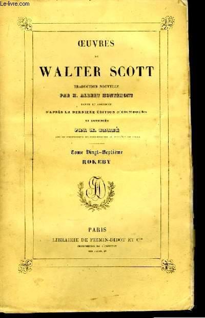 Oeuvres de Walter Scott. TOME XXVII : Rokeby
