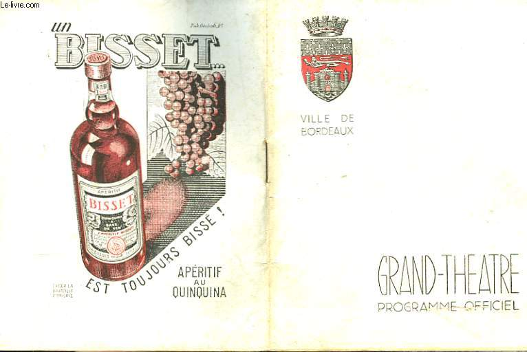 Grand-Théâtre. Programme officiel.
