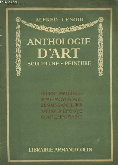 Anthologie d'Art. Sculpture - Peinture. Fascicule n°1
