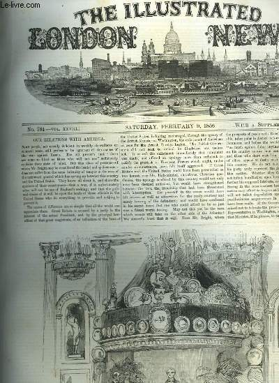 The Illustrated London News n°784 : Our relations with America