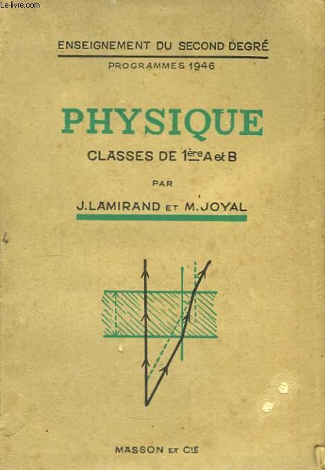 Phusique. Classe de 1ère A et B.