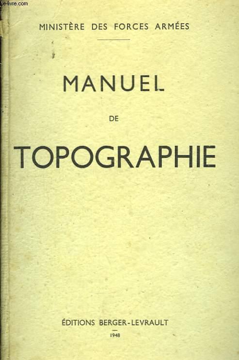 Manuel de Topographie