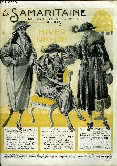 Catalogue Hiver 1920 - 1921