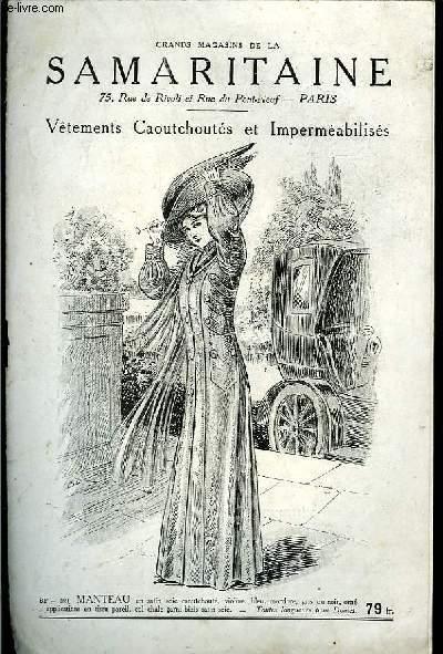 Catalogue de Vêtements Caoutchoutés et Imperméabilisés.